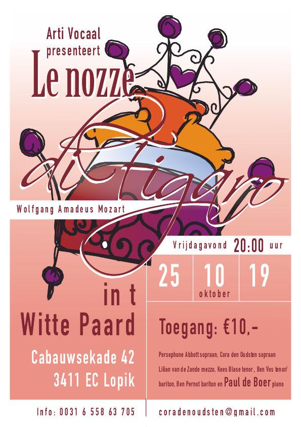 Nozze di Figaro , Mozart  vrijdag 25 oktober om 20.00